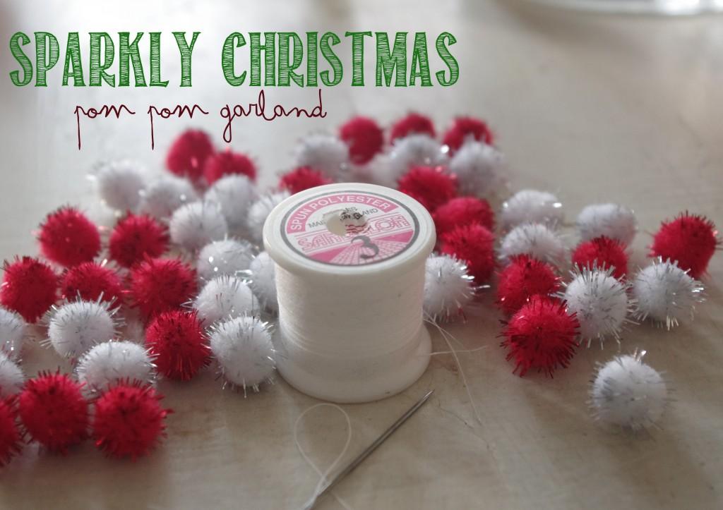 Sparkle Christmas Pom Poms