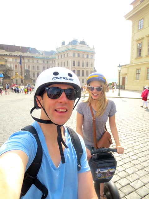 Segwaying around the Castle District