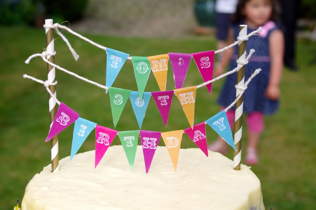 Two tier cake- triple lemon below with chococcino on top perfectly topped with this easy & bright decoration.